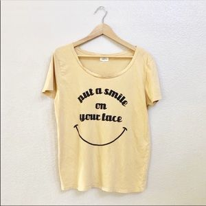 Urban Outfitters PST graphic yellow  tee